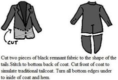how to make a tailcoat; from a link found on rockyhorrorcostumelist.info Steampunk Halloween, Steampunk Diy, Steampunk Costume, Steampunk Fashion, Clever Halloween Costumes, Halloween Cosplay, Diy Costumes, Halloween Diy, Zatanna Cosplay