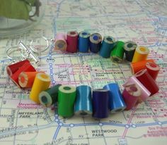 Colored Pencil - Beaded Bracelet - Charm Bracelet - Teacher Gift - Teacher - Bracelet - Jewelry - Adjustable - Multi Color - Rainbow. $15.00, via Etsy.