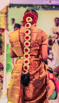 South Indian Traditional Bridal Hairstyles #bridalhairstyle