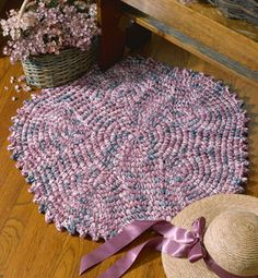 Crochet round rug pattern Crochet Circle rug pattern online - LeisureArts