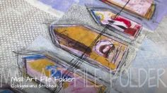 """This is """"Mail Art - File Folder Tutorial"""" by Roben-Marie Smith on Vimeo, the home for high quality videos and the people who love them. Art Folder, File Folder, Mixed Media Tutorials, Art Tutorials, Sewing Machine Stitches, Cloth Paper Scissors, Art Journal Tutorial, Art Journal Pages, Art Journals"""