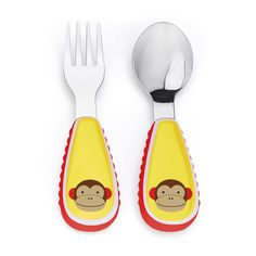 Skip Hop Monkey Zoo-tensils - Fork and Spoon Set