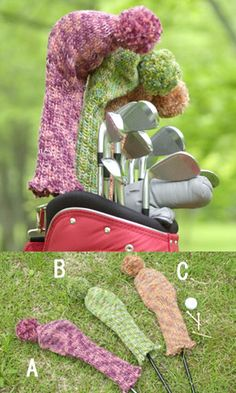 Amigurumi Golf Club Covers : 1000+ images about Crocheted /knitted Golf club covers on ...