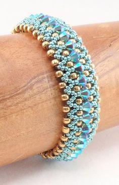 Beading Tutorial for Kaleidoscope Bracelet, beading tutorials, bracelet tutorials, beadweaving tutorials, beadwoven tutorials - perlen häkeln bead crochet - Bracelets Bracelets Diy, Beaded Bracelets Tutorial, Beaded Bracelet Patterns, Beaded Necklace, Beads Tutorial, Bead Patterns, Making Bracelets, Embroidery Bracelets, Weaving Patterns