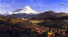 View of Riobamba, looking North Towards Mount Chimborazo