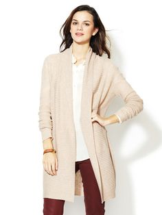 Wool Cashmere Purl Stitch Cardigan by Barrow & Grove on Gilt.com  ... Also comes in classic black, and the sleeves are already long enough!