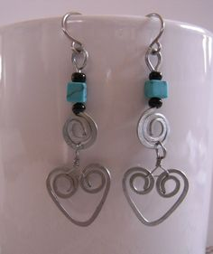 Wired Heart Earrings