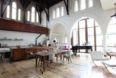 Kitchen in a renovated church.