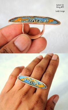 Copper, sterling silver and enamel. | Flickr - Photo Sharing!