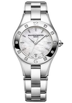 Baume Mercier Women's Linea Mother of Pearl Dial Stainless Steel