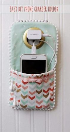 Best Sewing Projects to Make For Girls - Easy DIY Phone Charger Holder - Creative Sewing Tutorials for Baby Kids and Teens - Free Patterns and Step by Step Tutorials for Dresses, Blouses, Shirts, Pants, Hats and Bags - Easy DIY Projects and Quick Crafts Ideas http://diyjoy.com/cute-sewing-projects-for-girls - Visit my Store @ https://www.spreesy.com/emmaperry