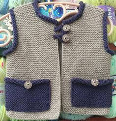Baby boy vests_ 40 knit vest – TC Özlem Beşgen – Join in the world of pin Baby Boy Knitting Patterns, Baby Sweater Knitting Pattern, Crochet For Kids, Crochet Baby, Baby Boy Vest, Knitted Baby Clothes, Baby Sewing Projects, Knit Vest, Kids Outfits Girls