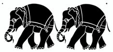 Beautiful Elephant Border in a Repeating Pattern. Silhouettes/ Stencils/ Templates/ Sjablonen. For all kind of crafts like; journaling,  murals, furniture...and more! Also for sale at the Stencil- Library.com