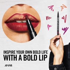 I just entered the Avon Lip Tattoo Sweepstakes for a chance to win each of the 6 new Lip Tattoo shades - for you and a friend! Lip Gloss Colors, Lip Colors, Tattoo Shading, Avon Sales, Kissable Lips, Bold Lips, Avon Representative, Lip Stain, Medium