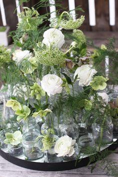 OHJE!!  KUKKALA: Kukkainen lasipullotarjotin