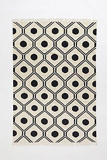 honeycomb rug | black and white honeycomb rug | Anthropologie rugs