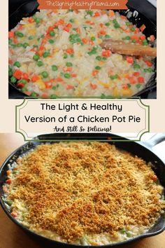 Healthy Chicken Pot Pie, Yummy Chicken Recipes, Yum Yum Chicken, Yummy Recipes, Yummy Food, Healthy Recipes, Best Dinner Recipes, Lunch Recipes, Frugal Meals