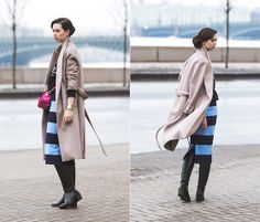 #midi + #outerwear + #shoes