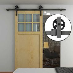 This HOMCOM barn door style track system is a great way to create a door in an open access way. Sliding Barn Door Track, Sliding Barn Door Hardware, Sliding Doors, Barn Doors, Timber Door, Wooden Doors, Entryway Furniture, Home Furniture, Black Corner Computer Desk