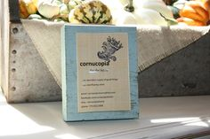 Wood block picture frame with dowel by CornucopiaHome on Etsy, $26.00