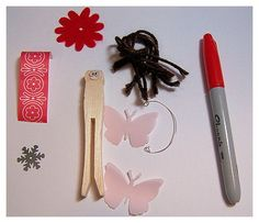 Create a flower fairy party activity.  I like the butterfly wings.