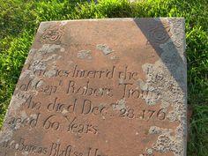 Robert Troup 1763 detail E. Hanover, NJ