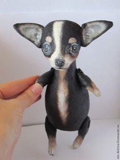 Купить Чихуашка-маленький Радик;) - чёрный, чихуа, ихуашка в подарок, ароматная игрушка, ароматная собачка