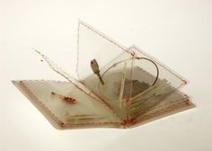 Small Book Art -Feel the poem in a foreign city by Matilda Huang--laminated pages? everyone in class makes a page?