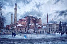 Hagia Sofia under snow. www.photoinistanbul.com
