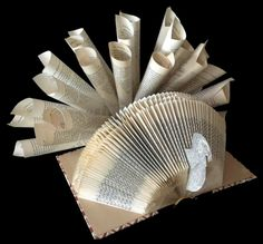 Book Art Turkey Centerpiece craft workshop was sponsored by the Friends on Thurs. at 6 pm. Ages 16 and up. Participants created Thanksgiving centerpieces using repurposed hardcover books. Recycled Book Crafts, Old Book Crafts, Book Page Crafts, Folded Book Art, Book Folding, Paper Folding, Thanksgiving Blessings, Thanksgiving Turkey, Happy Thanksgiving