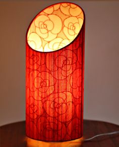 Gorgeous Rose Fabric Table Lamp by Sunshine Boulevard