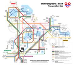 Walt Disney World Resort Transportation Map
