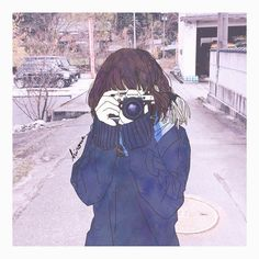 Camera drawing - Best Picture For Cameras lens For Your Taste You are looking for s Manga Girl, Anime Art Girl, Anime Girls, Aesthetic Art, Aesthetic Anime, Image Tokyo Ghoul, Character Illustration, Illustration Art, Desu Desu
