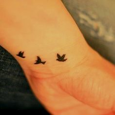 Don't want a tattoo, but these birds would make pretty artwork.