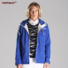 eaa66c0b2 Click to Buy    GustOmerD New Autumn Winter Mens Fashion Coats Trend Hooded