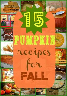 Wendi Hamel via Susie QTPies 15 Pumpkin Food Recipes for Fall and Halloween