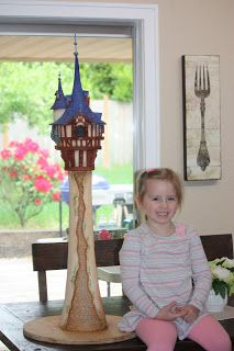 The Best Rapunzel Tower Cake tutorial
