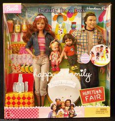 Happy Family Neighborhood Hometown Fair Gift Set Barbie Ken Doll Midge Alan, 259.95