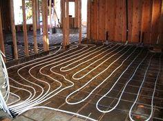 Radiant heated floors in garage