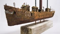 John-Taylor-ships3 http://www.odditycentral.com/pics/artist-builds-one-of-a-kind-imperfect-boats-from-discarded-materials.html