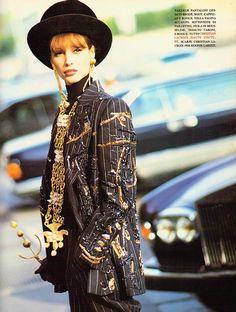 "Christy Turlington in ""C'est Paris"" by Arthur Elgort for Vogue Italia September 1992"