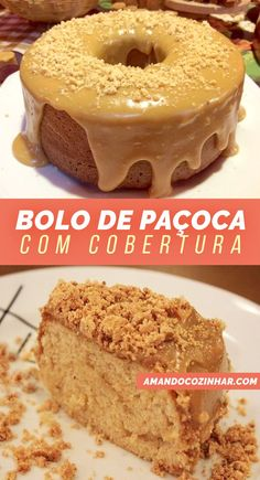 Paçoca cake with icing- Bolo de Paçoca com cobertura Peanut butter cake perfect for your June party. With creamy topping, a peanut butter sauce. Very easy recipe. Cakes Originales, Peanut Butter Sauce, Food Wishes, Types Of Cakes, Bakery Cakes, Cake Boss, Christmas Desserts, Cupcake Cakes, Food To Make
