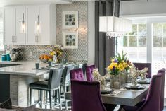 Bold kitchen and dinette Beach House Kitchens, Home Kitchens, Dream Kitchens, Property Brothers Designs, Victoria House, Kitchen Drawing, Kitchen Photos, Kitchen Ideas, Kitchen Wood