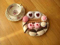Felt food. Felt biscuits. Felt cookies. Decorations. by MoCactus
