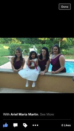 Beautiful bridesmaids and adorable flowergirl