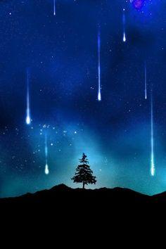 Meteorite shower / falling stars