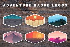 Outdoor Adventure Badge Logos by Adrian Pelletier on @creativemarket