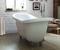 Inspiration from Bathrooms.com: Create a stylish sanctuary with the Slipper freestanding bath, its elegant look will create a designer feature in your bathroom.