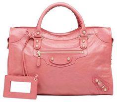 3860c0a501b3 Balenciaga Giant 12 Silver City Bag in Rose Bonbon Lambskin