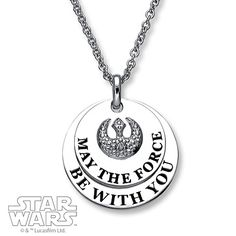 Star Wars Necklace May the Force Be With You Sterling Silver